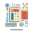 programming flat line concept vector image