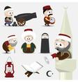 ramadan icons vector image