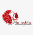 red clots with blood drops vector image vector image