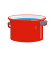 red pan with water isolated kitchen utensils for vector image vector image