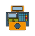 register machine with money icon vector image
