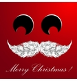 Santa Claus mustache and congratulation vector image