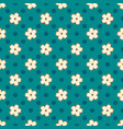 simple pattern with small blooming cherry flowers vector image vector image