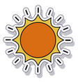 sun sunny isolated icon vector image vector image