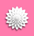 white paper lotus blossom design element with 3d vector image vector image