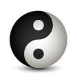 Yin Yang sphere symbol vector image vector image