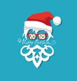 santa claus wearing sunglasses vector image