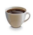 Isolated realistic white coffe cup vector image