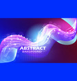 a bright abstract background with lines waves and vector image vector image