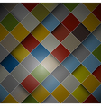 Abstract dark background - colorful squares vector image vector image