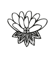 Amazing fantasy flower in tattoo style vector image