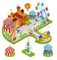 Amusement Park Isometric Composition vector image vector image