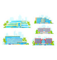 apart hotel resort building icons vector image vector image