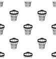 basketball hoopbasketball single icon in black vector image vector image