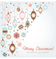 Beautiful design Christmas greeting card vector image vector image