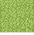 beautiful pattern with green floral pattern vector image vector image