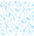 Beautiful watercolor seamless pattern with leaves vector image vector image