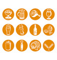beer drinks icons vector image vector image