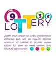 big lottery advertisement with numbered colorful vector image vector image
