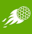 burning golf ball icon green vector image vector image