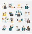 business and company icon set vector image vector image