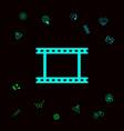 camera roll photographic film camera film symbol vector image