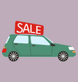 car for rent buying or rent car vector image