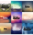 cargo ship icon on blurred background vector image