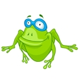 cartoon character frog vector image