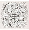 Cartoon cute doodles traveling vector image vector image