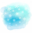 christmas snowflakes on watercolour texture vector image vector image