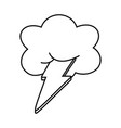 cloud and lighting black and white vector image