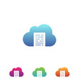 cloud files vector image vector image
