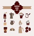 Coffee icons hand-drawing sketch vector image vector image