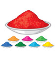 colorful happy holi vector image