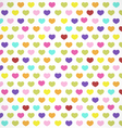 Colorful Hearts Background in Retro Style vector image vector image