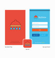 company shower splash screen and login page vector image vector image
