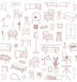 contemporary home furniture hand drawn vector image vector image