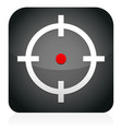 crosshair target icon vector image vector image