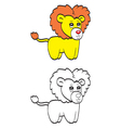 Cute cartoon lion vector image vector image
