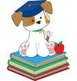 Cute puppy graduate vector image