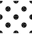 dead emotpattern seamless black vector image