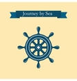 Design of logo with nautical helm vector image vector image