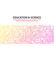education science concept vector image vector image
