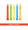emergency light stick vector image vector image