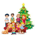family gathering on christmas vector image