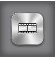 Film icon - metal app button vector image vector image