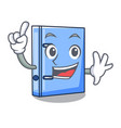 finger office binder file isolated on cartoon vector image