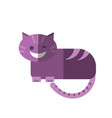 flat smiling cheshire cat vector image vector image