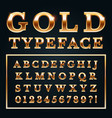 golden letters with gold shine metal gradients vector image vector image